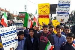 نوجوانان و جوانان شیرازی حماسه استکبار ستیزی خلق کردند