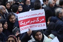 İran genelinde Amerika'ya karşı protesto