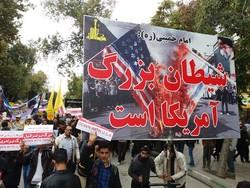 حضور پرشور مردم در راهپیمایی ۱۳ آبان مشتی بر دهان استکبار است