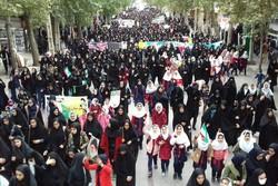 راهپیمایی باشکوه ۱۳ آبان در لرستان