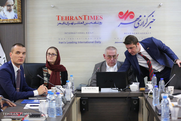 Polish Trade delegation's press conference held at Tehran Times