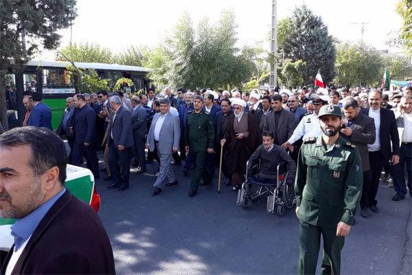 راهپیمایی 13 آبان پردیس و اسلامشهر