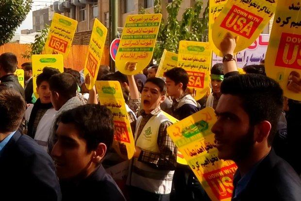 راهپیمایی13ابان شهرکرد - کراپشده