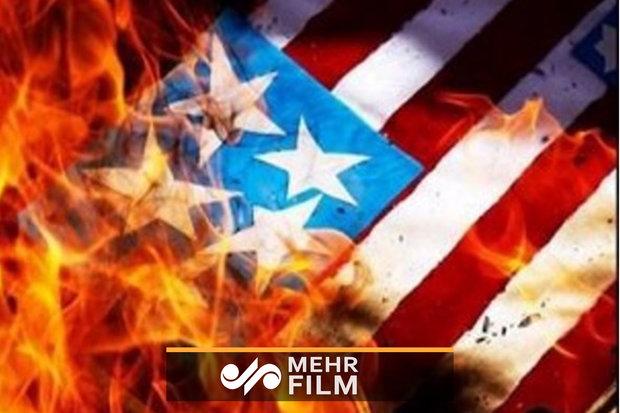 13 آبان کی مناسبت سے امریکی پرچم نذر آتش