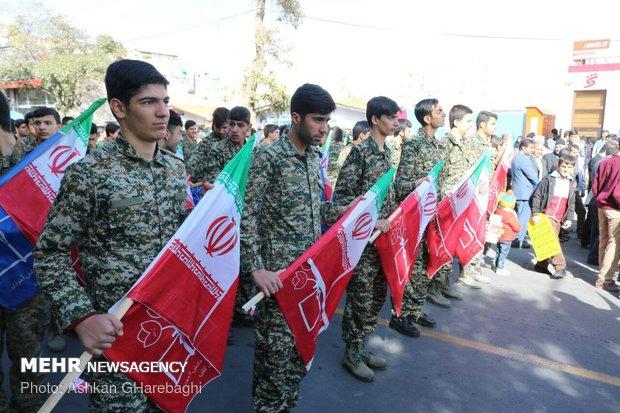 راهپیمایی استکبار ستیزی ۱۳ آبان در زنجان