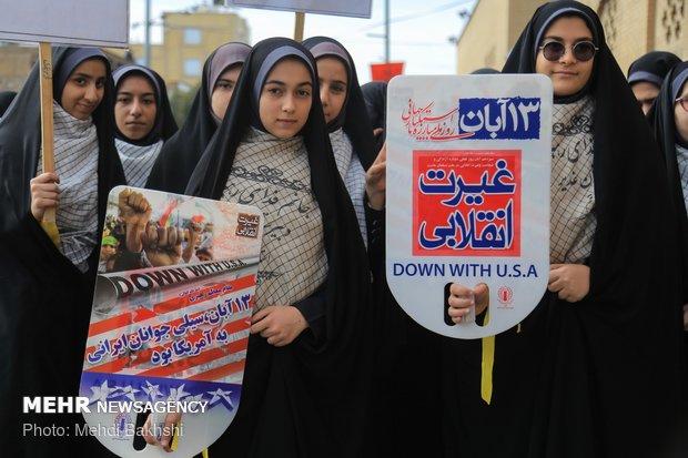 تظاهرات ۱۳ آبان امسال فریاد بی اعتمادی به امریکا بود