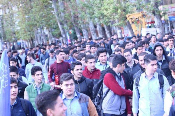 راهپیمایی 13 آبان در گیلان
