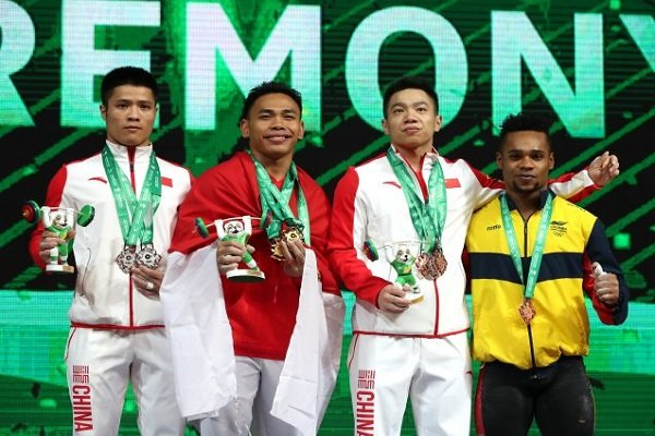 Indonesia's Irawan breaks world weightlifting record