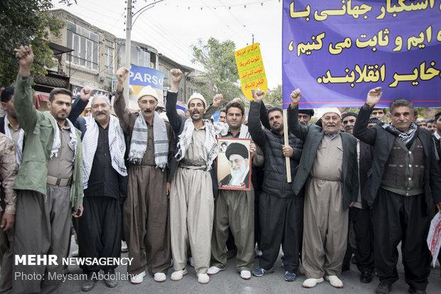 راهپیمایی استکبار ستیزی ۱۳ آبان در کرمانشاه