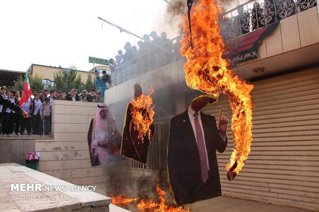 راهپیمایی استکبار ستیزی ۱۳ آبان در شهرضا