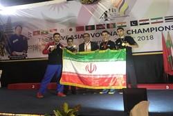 سه مدال طلا و نقره نمایندگان ایران درمسابقات ووینام قهرمانی آسیا