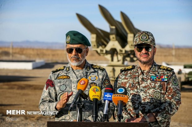 Press conference on Iran air defense joint maneuver