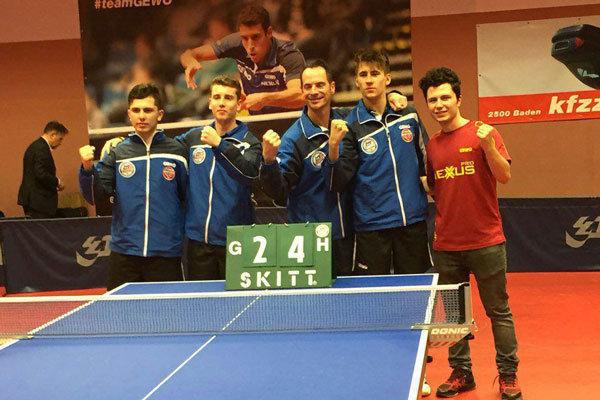 امین احمدیان و تیمش در لیگ تنیس روی میز اتریش پیروز شدند