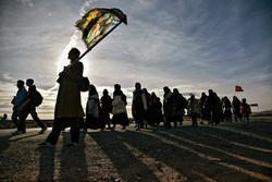 حضرت امام رضا (ع) کے زائرین کا پیدل مارچ