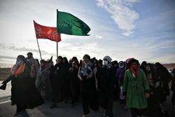 شرکت ۱۱۰۰ زائر پیاده مه ولات درمراسم شهادت امام رضا(ع)