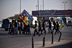 حضور پرشور زائران پیاده امام هشتم(ع) در مسیرهای منتهی به مشهد