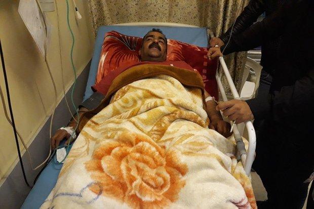 قرقبان گلستانی از بیمارستان مرخص شد