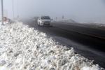 مه گرفتگی و بارش برف در محورهای شمالی و غربی کشور