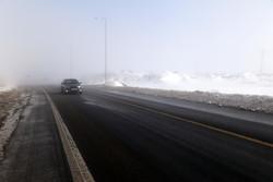 بارش برف در هراز و فیروزکوه