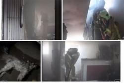 آتش سوزی در مجتمع مسکونی شهر گلستان/۵ نفر محبوس نجات یافتند
