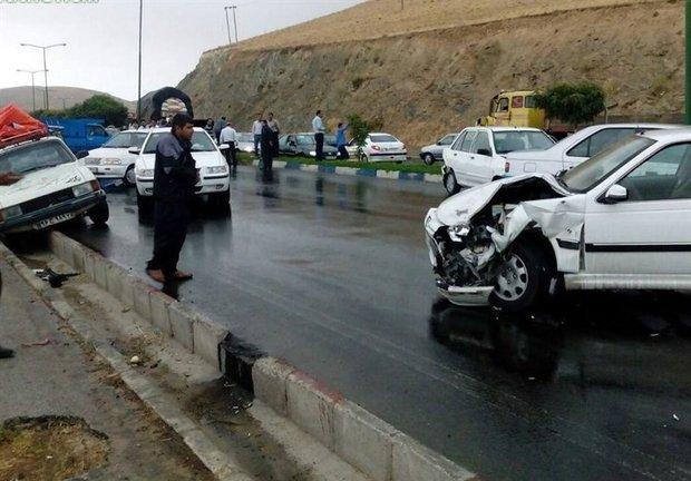 وقوع دو تصادف در محور چالوس/۷ نفر مصدوم شدند