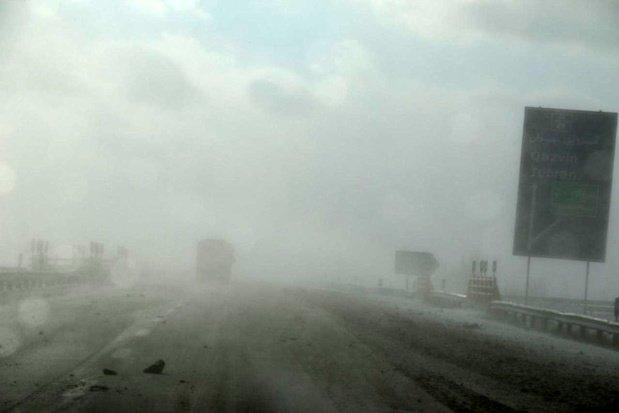 مه غلیظ در ارتفاعات هراز و فیرزکوه