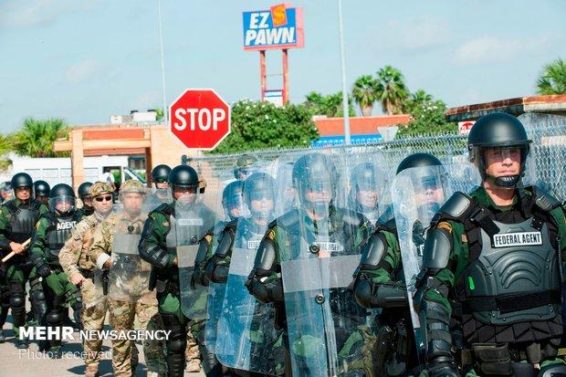 استقرار نیروهای ارتش آمریکا در مرز مکزیک