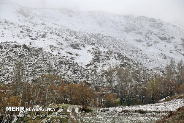 بارش برف در سائین
