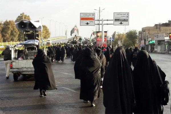 پیاده روی جاماندگان ارض طوس در دشت ورامین برگزار شد