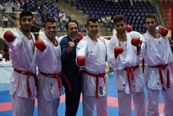 Iran claims title of team kumite at World Karate C'ships