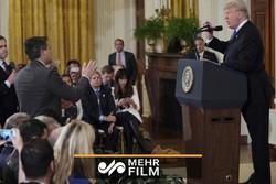امریکی صدر ٹرمپ کی سی این این کے صحافی سے تلخ کلامی