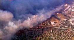 وقوع آتش سوزی در شمال کالیفرنیا