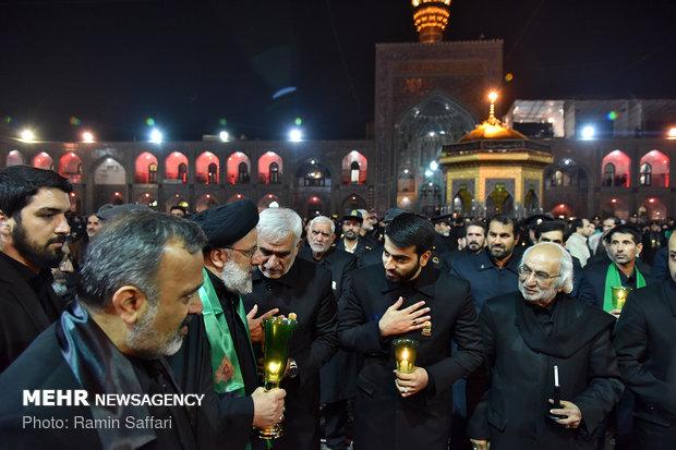 مشہد مقدس ميں حضرت امام رضا (ع) کی شہادت کی مناسبت سے شام غریباں