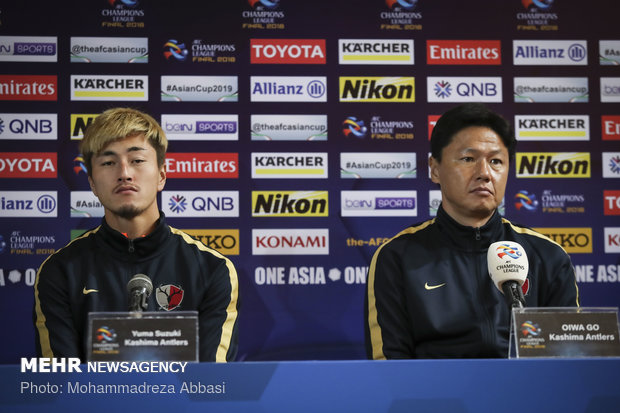Presser of Japanese Kashima Antlers FC head coach before final match