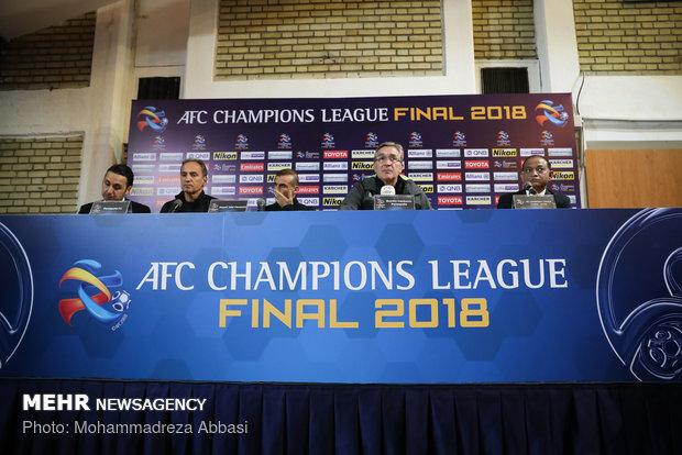 نشست خبری تیم پرسپولیس پیش از بازی فینال جام باشگاههای آسیا