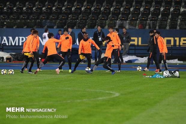 تمرین تیم کاشیما آنتلرز پیش از بازی فینال جام باشگاههای آسیا