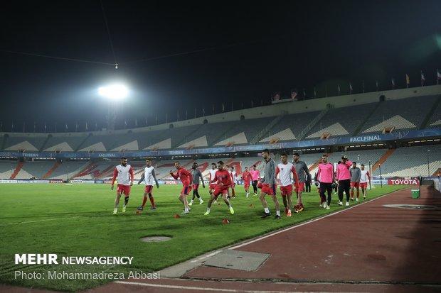 تمرین تیم پرسپولیس پیش از بازی فینال جام باشگاههای آسیا