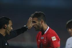 درگیری بازیکنان پرسپولیس و کاشیما در نیمه نخست
