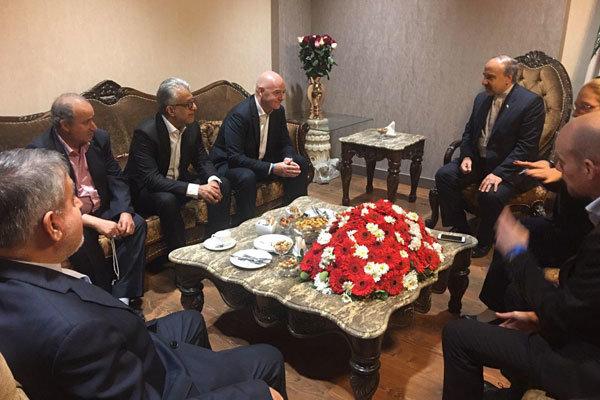 توضیح وزیر ورزش ایران به رئیس فیفا درباره دلیل استعفای مهدی تاج