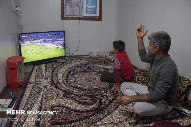Deprem bölgelerinde futbol heyecanı