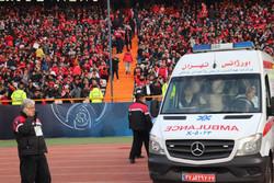درمان ۷۳۸ نفر در جریان بازی پرسپولیس/۵نفر به بیمارستان منتقل شدند