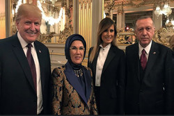 پیرس میں صدر اردوغان کی صدر ٹرمپ سے ملاقات