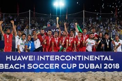 Iran crowned at Huawei International Beach Soccer Cup