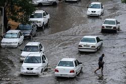 بارش شدید باران و آبگرفتگی معابر در نقاط مختلف استان بوشهر