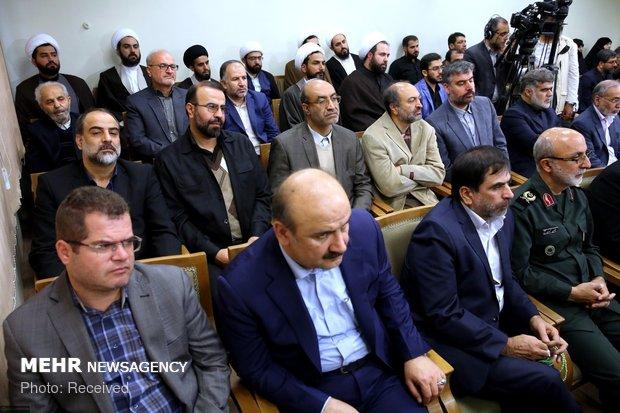 قائد الثورة يستقبل أعضاء مؤتمر إحياء ذكرى شهداء قزوي