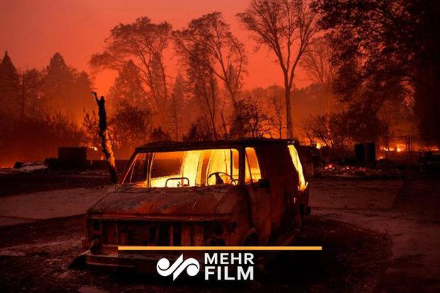 ABD'deki yangın olayından son görüntüler