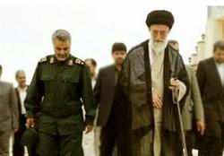 فیلم کمتر دیده شده از سردار سلیمانی در کنار رهبرانقلاب