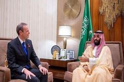 نشست «بن سلمان» با نماینده ویژه نخست وزیر انگلیس