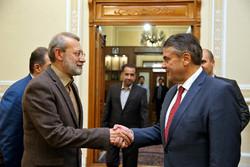 دیدار وزیر امور خارجه سابق آلمان با رئیس مجلس شورای اسلامی