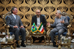 Former Brazil pres. meets with Iranian economy min.